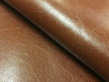 Designer Burnt Caramel Brown Faux Leather Suede Backing Vinyl Upholstery Fabric
