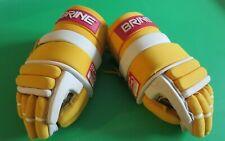 Vintage Brine L35 Lacrosse Gloves Yellow w/Floating Cuff System Flip Flop Model