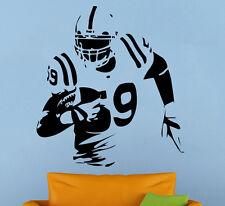 American Football Player Wall Decal Vinyl Sticker Sport Home Wall Art Decor 4af