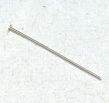 "1"" 24G Head Pin .925 Sterling Silver Jewlery Findings Bead Craft Gauge GA 10pk"