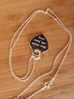 Sterling Heart Necklace Personalised with Text /& Beautiful Poem For The Bride