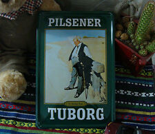 PILSENER TUBORG Beer Metal Tin Sign Wall Decor Bar pub Tavern Brewery Display Ad