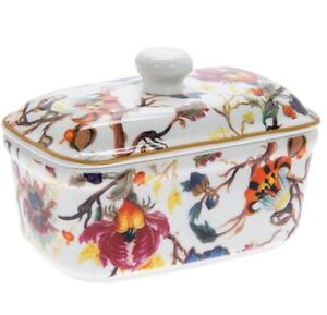 VINTAGE STYLE FINE CHINA ANTHINA BUTTER DISH WITH LID NEW AND GIFT BOXED *