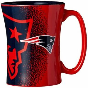 New England Patriots 14oz Coffee Mug NFL Mocha Style
