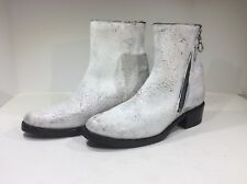 FRYE Demi Women's Size 9.5 White Leather Zip Bootie Boot FB- 226