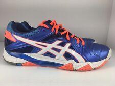 Asics Gel Sensei Women US 9.5 Blue + Orange Volleyball Athletic Gym Shoes
