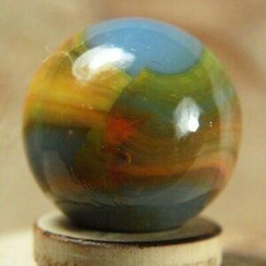 """Peltier Blended Rainbo Marble 20/32"""" NrMnt yellow orange ribbons"""
