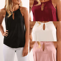 Womens Lady Summer Short Vest Blouse Casual Clothes Sleeveless Sling Top T-shirt