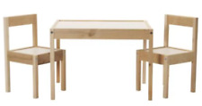IKEA LATT Children's Table and 2 Chairs Wooden Pine Wood Kids Furniture Set New