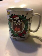 WB Taz Tasmanian Devil Oversized Large Coffee Mug Christmas Wreath Jumbo