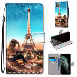 Iron Tower Flash Hot Fashion Flip Wallet Women Girl Case Cover For Various Phone