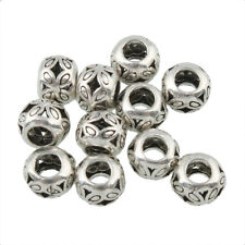 THAI .925 STERLING SILVER 5mm x 4mm SPACER BEADS #653 - (LOT OF 8)