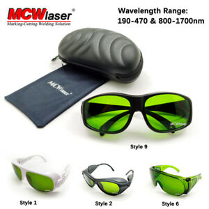 MCWlaser Laser Safety Goggles  190-470 & 800-1700nm OD5+ CE Typical 1064nm EP-8