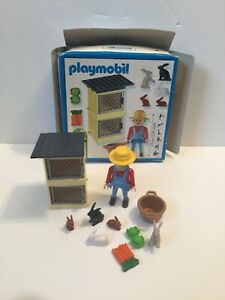 Playmobil 4491 - Farmer With Rabbit Hutch Farm
