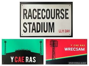 Limited Edition Wrexham FC Racecourse Cae Ras Football Metal Signs Wall Plaques