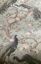 Laura Ashley Belvedere Duck Egg Peacock Wallpaper Paste The Wall BN