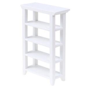 1/12 Puppenhaus Miniaturmöbel Weiß Holzregal Zubehör Modell TS * W6CWDESCDE