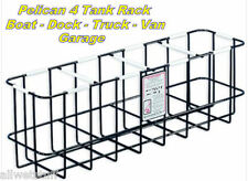 Pelican Scuba 4 Tank Rack Metal w/ Plastic Coated Rack boat dive storage racks