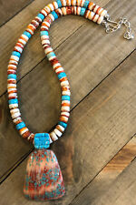 JAY KING Spiny Oyster Shell & Turquoise Pendant & Necklace, Sterling Silver