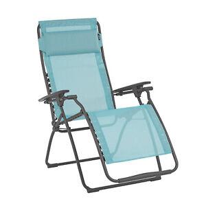 Lafuma Futura Batyline Iso Series Relaxation Chair Recliner, Blue (Open Box)