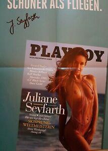 Original Signiertes Playboy A2 Poster Juliane Seyfarth 2021 Limitierte Ausgabe