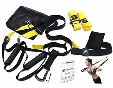 PRO KIT Home Gym Suspension Resistance Strength Training Straps Workout Trainer