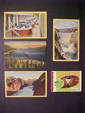 OLD CARDS~HOOVER BOULDER DAM POSTCARDS~VINTAGE UNUSED ANTIQUE COLOR POSTCARD LOT
