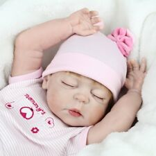 Reborn Baby Girl Doll Real Life Full Body Soft Vinyl Silicone Baby Doll Gift 22""