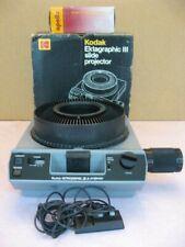 Kodak Ektagraphic III Slide Projector w/Apollo 100-150mm Zoom Lens - Nice!