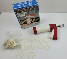 Cookie Press & Icing Set - with 10 Disks & 6 Decorating Tips Vintage in box