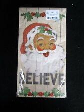 Holly Santa 8701 Set of 36 3-ply Christmas Dinner Napkins Believe New