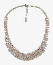 NWT Forever 21 rhinestone opaque pink tones statement necklace