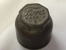 Original Vintage Model T FORD Grease Dust Cover Hubcap ~Plated Brass ~ GO20