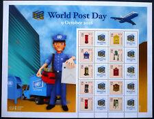 UNO New York 2016 Grussmarken Bogen 1555-64 World Post Day Weltposttag ** MNH