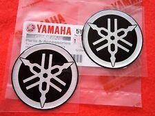 ORIGINAL YAMAHA 3D Round GENUINE Fork Badges 2 x 40mm **UK STOCK**