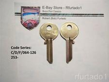 Key Blank for Vintage Volvo Early 1960's  (V70B) see Code Series