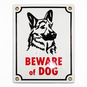 Enamel sign BEWARE OF DOG 20x15 cm WARRANTY-10 ys wall gate fence plaque warning