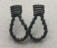 """Nautical Knot Earring 1.5"""" Brass-Tone Wire Wrap Abstract Door Knocker 13G"""