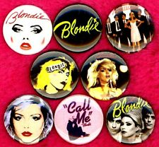 Blondie 8 NEW button pin badge punk new wave disco call me Debbie Harry