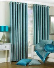 Rideaux et cantonnières bleu avec des motifs Rayé pour la maison