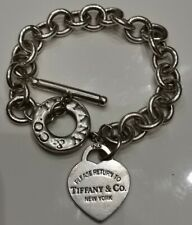 Tiffany & Co Braccialetto Makers in Argento Sterling-Heart tag chiusura toggle