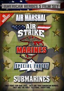 DVD - Action - American Heroes 5 Film Set - Air Marshal - Air Strike - Marines