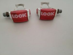 1 Pair Retro Vintage Look PP76 L & R Clipless Pedals 9/16 x 20 no Cleats