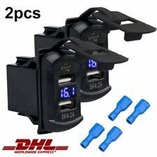 2X Auto Steckdose USB Ladegerät 4.2A 12V Wasserdicht Buchse Motorrad KFZ Einbau