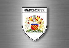 Sticker decal souvenir car coat of arms shield city flag manchester england