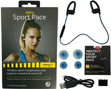 Jabra Sport Pace Bluetooth Wireless Sport HD Music Headphones Rapid Charge -Blue