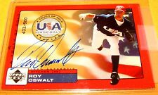 ROY OSWALT - 2000 UD USA Baseball Touch of Gold RC On Card Autograph /500