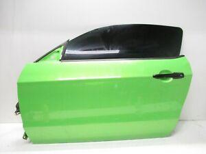 2011-2014 FORD MUSTANG GT FRONT LEFT DRIVER SIDE EXTERIOR DOOR PANEL GREEN OEM