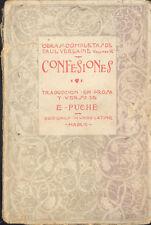 CONFESIONES AUTOR PAUL VERLAINE PRIMERA EDICION MUNDO LATINO 1921   TC12025 A6C1