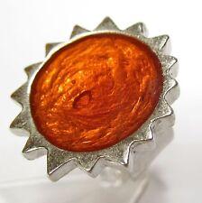 Ring SoHo Sonne silber Kunstharz orange retro resin oranje sun